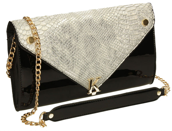 SWANKYSWANS Ora K Clutch Bag Silver Cute Cheap Clutch Bag For Weddings School and Work