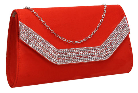 Beautiful Summer Winter Clutch Bag perfect for a party!Harper Clutch Bag Scarlet SWANKYSWANS