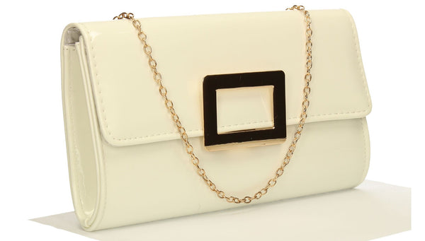 SWANKYSWANS Panama Clutch Bag White Cute Cheap Clutch Bag For Weddings School and Work