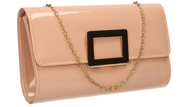 SWANKYSWANS Panama Clutch Bag Pink Beige Cute Cheap Clutch Bag For Weddings School and Work