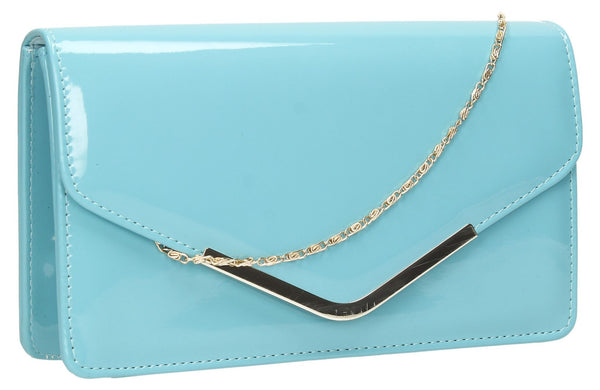 SWANKYSWANS Paris Clutch Bag Mint Blue Cute Cheap Clutch Bag For Weddings School and Work