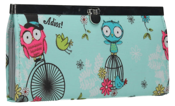 Swanky Swank Pembleton Owl Frame Purse BlueCheap Cute School Wallets Purses Bags Animal