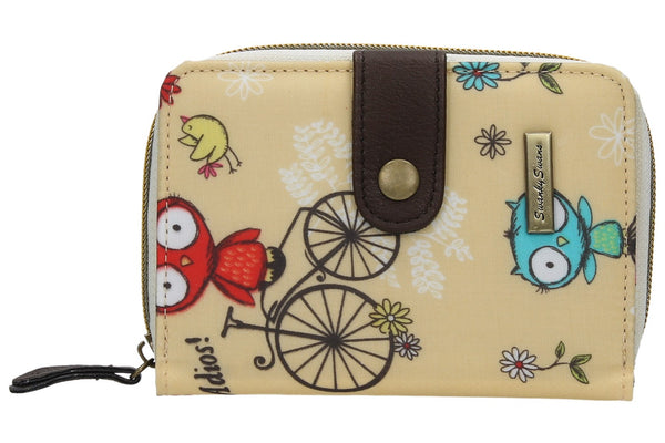 Swanky Swank Pembleton Owl Bi-fold Purse BeigeCheap Cute School Wallets Purses Bags Animal