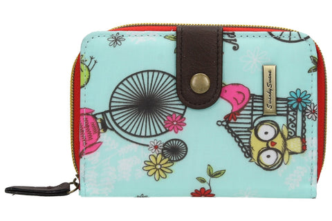 Swanky Swank Pembleton Owl Bi-fold Purse BlueCheap Cute School Wallets Purses Bags Animal