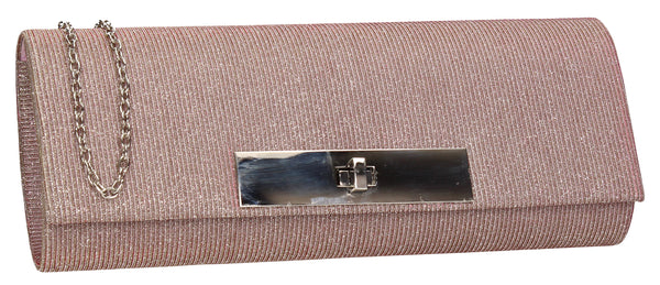 SWANKYSWANS Janet Glitter Clutch Bag Pink Cute Cheap Clutch Bag For Weddings School and Work
