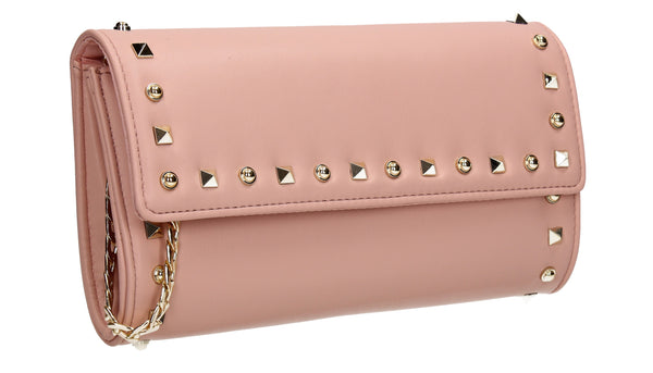 SWANKYSWANS Katie Clutch Bag Pink Cute Cheap Clutch Bag For Weddings School and Work