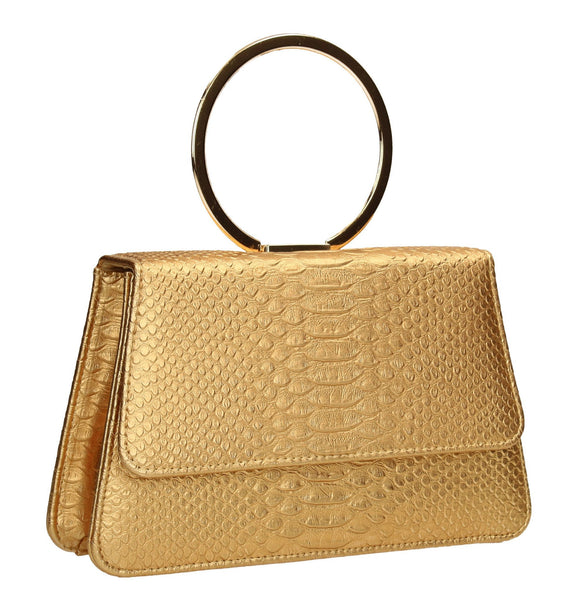 SWANKYSWANS Piper Clutch Bag Gold Cute Cheap Clutch Bag For Weddings School and Work