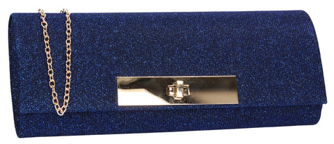 Janet Glitter Clutch Bag Royal Blue