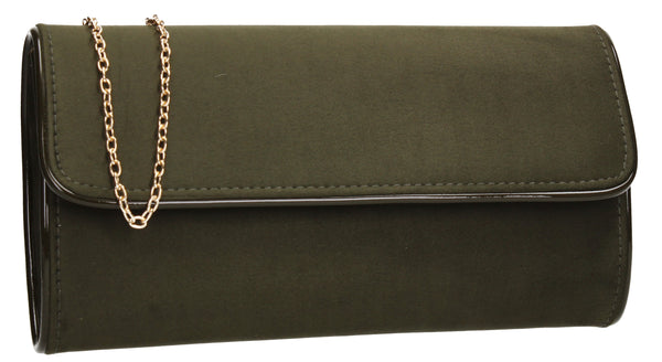 SWANKYSWANS Jamie Clutch Bag Green Cute Cheap Clutch Bag For Weddings School and Work