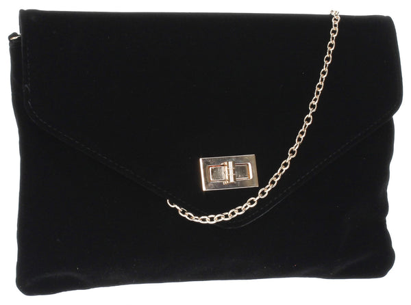 SWANKYSWANS Rita Clutch Bag Black Cute Cheap Clutch Bag For Weddings School and Work