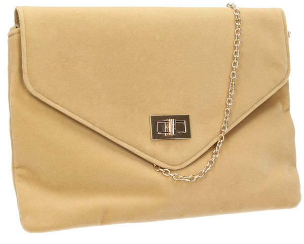 SWANKYSWANS Rita Clutch Bag Beige Cute Cheap Clutch Bag For Weddings School and Work