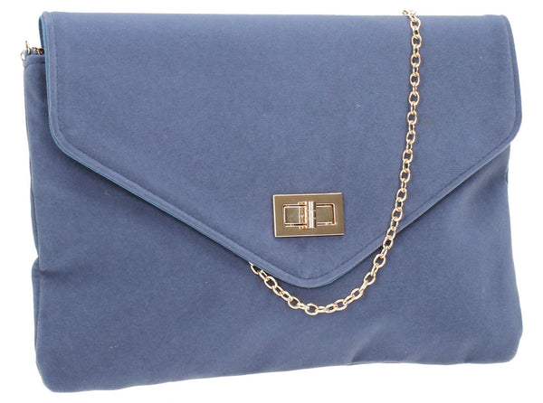 SWANKYSWANS Rita Clutch Bag Royal Blue Cute Cheap Clutch Bag For Weddings School and Work