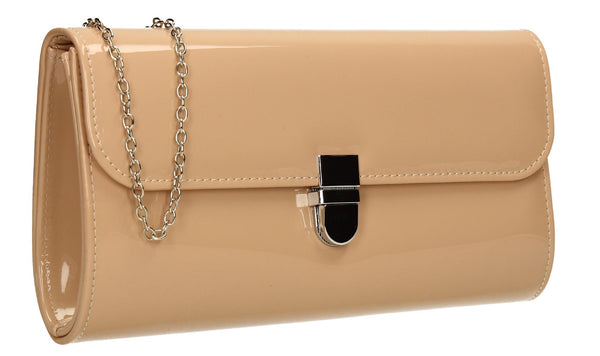 SWANKYSWANS Roxy Clutch Bag Beige Cute Cheap Clutch Bag For Weddings School and Work