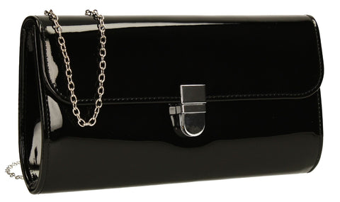 SWANKYSWANS Roxy Clutch Bag Black Cute Cheap Clutch Bag For Weddings School and Work