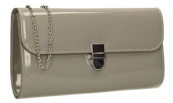 SWANKYSWANS Roxy Clutch Bag Grey Cute Cheap Clutch Bag For Weddings School and Work