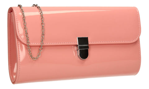 SWANKYSWANS Roxy Clutch Bag Pink Cute Cheap Clutch Bag For Weddings School and Work