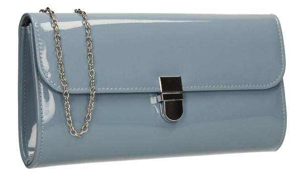 SWANKYSWANS Roxy Clutch Bag Blue Cute Cheap Clutch Bag For Weddings School and Work