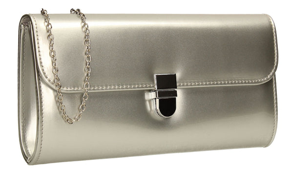SWANKYSWANS Roxy Clutch Bag Silver Cute Cheap Clutch Bag For Weddings School and Work