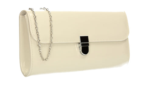 SWANKYSWANS Roxy Clutch Bag White Cute Cheap Clutch Bag For Weddings School and Work