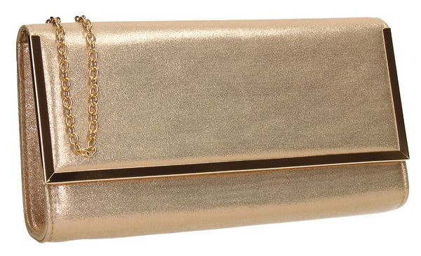 SWANKYSWANS Ruby Clutch Bag Champagne Cute Cheap Clutch Bag For Weddings School and Work