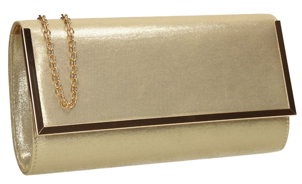 SWANKYSWANS Ruby Clutch Bag Gold Cute Cheap Clutch Bag For Weddings School and Work