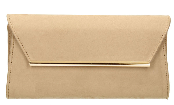 SWANKYSWANS Sabrina Clutch Bag Beige Cute Cheap Clutch Bag For Weddings School and Work