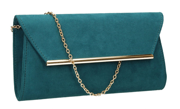 SWANKYSWANS Sabrina Clutch Bag Teal Cute Cheap Clutch Bag For Weddings School and Work