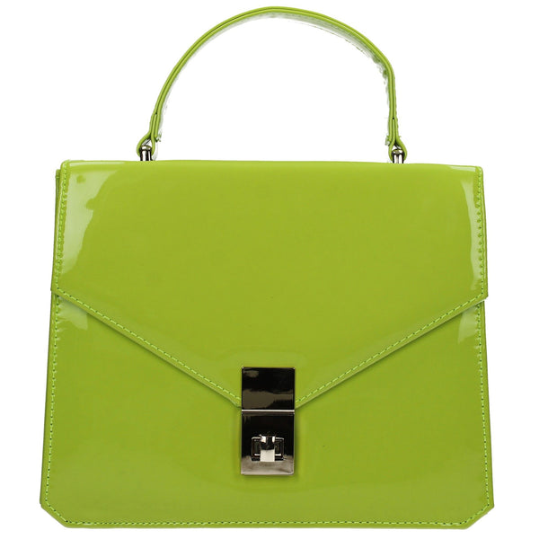 SWANKYSWANS Samantha Clutch Bag Lime Cute Cheap Clutch Bag For Weddings School and Work