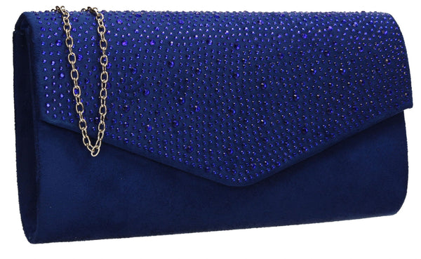 SWANKYSWANS Sandra Clutch Bag Royal Blue Cute Cheap Clutch Bag For Weddings School and Work