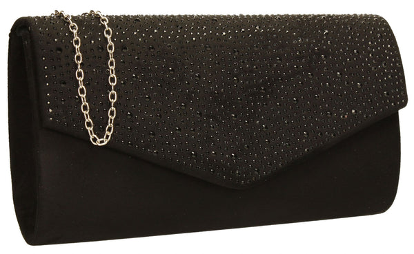 SWANKYSWANS Sandra Clutch Bag Black Cute Cheap Clutch Bag For Weddings School and Work