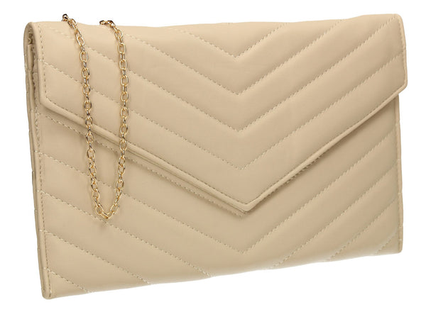 SWANKYSWANS Sandra Slim Clutch Bag Ivory Cute Cheap Clutch Bag For Weddings School and Work
