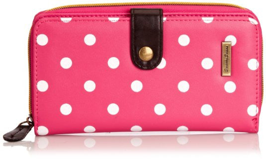 Swanky Swank Sara Polka Dot Purse PinkCheap Cute School Wallets Purses Bags Animal