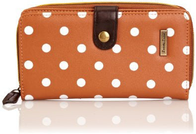 Swanky Swank Sara Polka Dot Purse TanCheap Cute School Wallets Purses Bags Animal