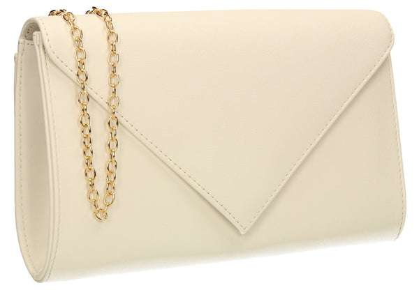 SWANKYSWANS Seraphina Clutch Bag White Cute Cheap Clutch Bag For Weddings School and Work
