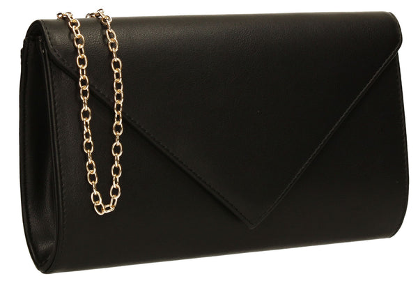 SWANKYSWANS Seraphina Clutch Bag Black Cute Cheap Clutch Bag For Weddings School and Work
