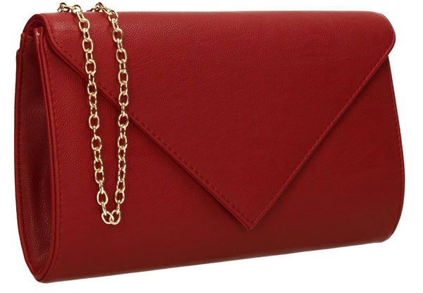 SWANKYSWANS Seraphina Clutch Bag Burgundy Cute Cheap Clutch Bag For Weddings School and Work