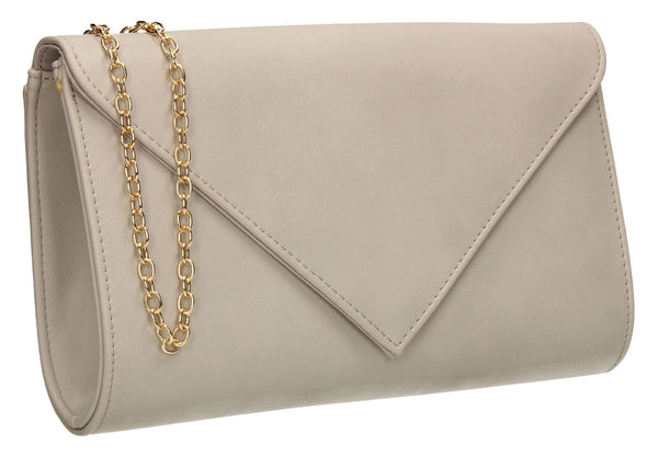 SWANKYSWANS Seraphina Clutch Bag Grey Cute Cheap Clutch Bag For Weddings School and Work