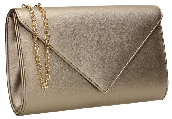 SWANKYSWANS Seraphina Clutch Bag Pewter Cute Cheap Clutch Bag For Weddings School and Work