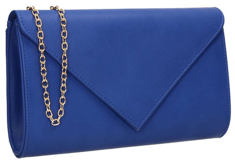 SWANKYSWANS Seraphina Clutch Bag Royal Blue Cute Cheap Clutch Bag For Weddings School and Work