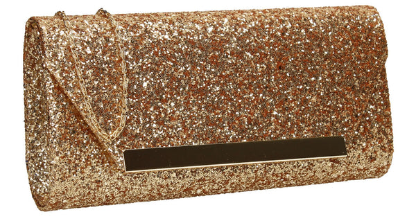 SWANKYSWANS Shanina Clutch Bag Gold Cute Cheap Clutch Bag For Weddings School and Work