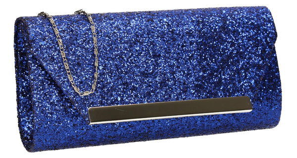 SWANKYSWANS Shanina Clutch Bag Royal Blue Cute Cheap Clutch Bag For Weddings School and Work