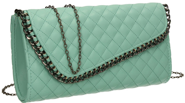 SWANKYSWANS Simon Clutch Bag Mint Cute Cheap Clutch Bag For Weddings School and Work