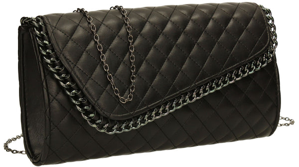 SWANKYSWANS Simon Clutch Bag Black Cute Cheap Clutch Bag For Weddings School and Work