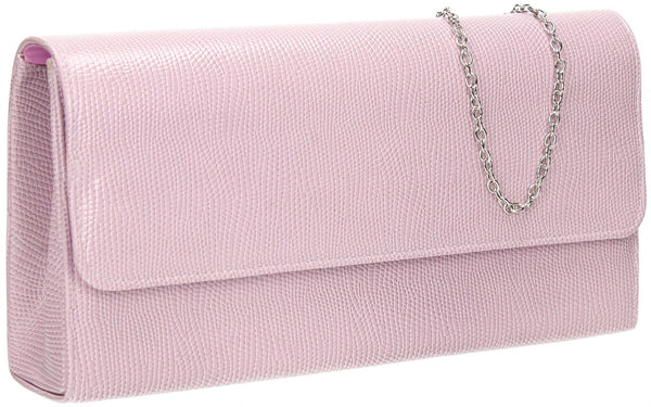 SWANKYSWANS Soho Clutch Bag Lilac Cute Cheap Clutch Bag For Weddings School and Work
