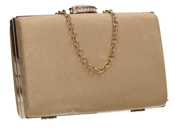 SWANKYSWANS Surrey Clutch Bag Beige Cute Cheap Clutch Bag For Weddings School and Work