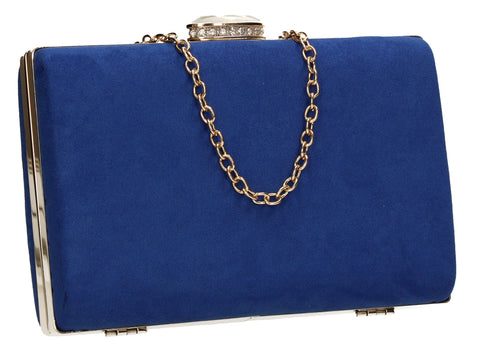 SWANKYSWANS Surrey Clutch Bag Royal Blue Cute Cheap Clutch Bag For Weddings School and Work