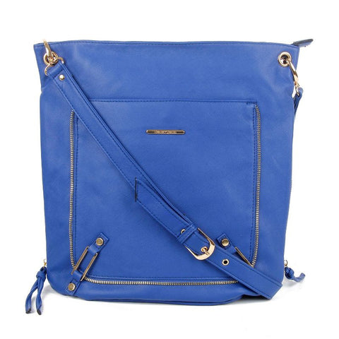 Swanky Swans Eva PU Leather Crossbody Royal BlueWomens Girls Boys School Crossbody Animal Cute