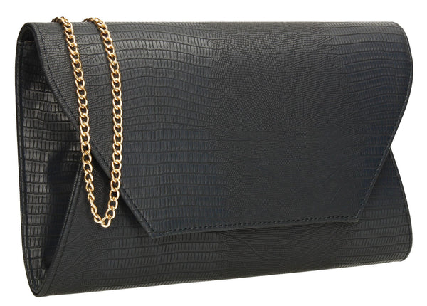 SWANKYSWANS Tania Clutch Bag Navy Blue Cute Cheap Clutch Bag For Weddings School and Work