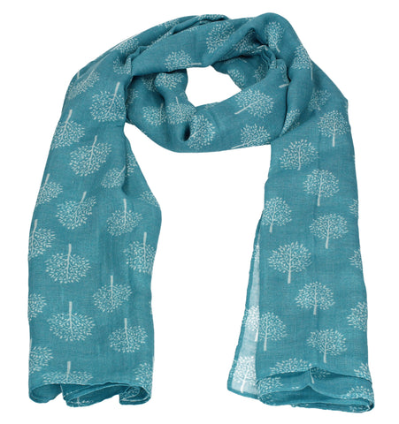 Swanky Swans Mulberry Tree Print Scarf Teal Beautiful school Summer Winter Scarf
