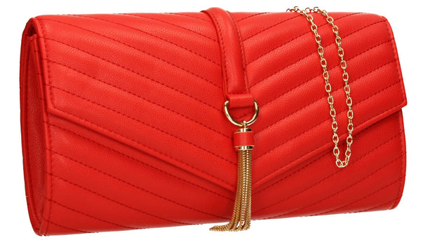 SWANKYSWANS Temperley Clutch Bag Red Cute Cheap Clutch Bag For Weddings School and Work